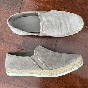 VINCE light tan Acker suede slip on sneaker shoes!